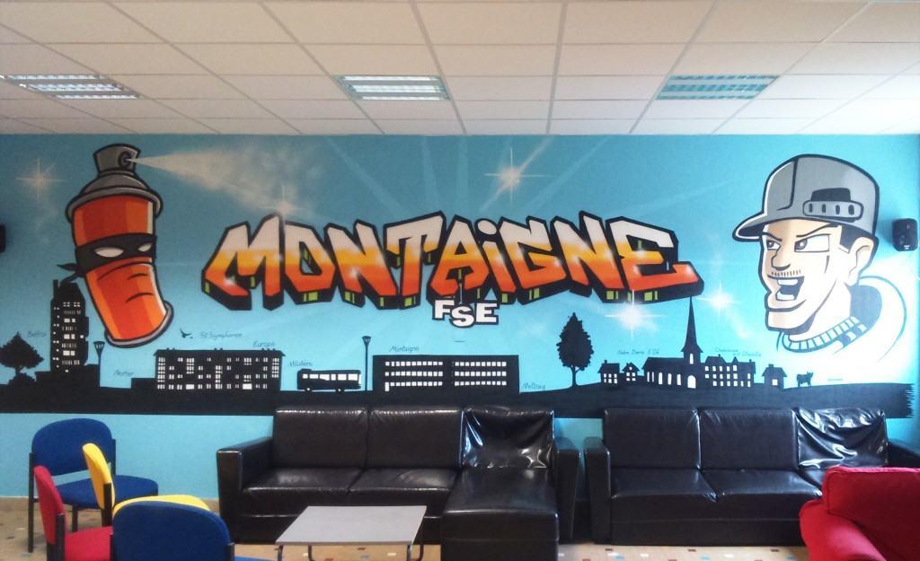 Fresque graff' au collège Montaigne