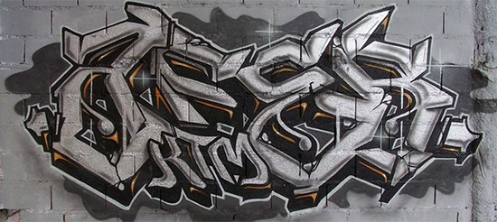wildstyle graffiti par Kevin Le Gall