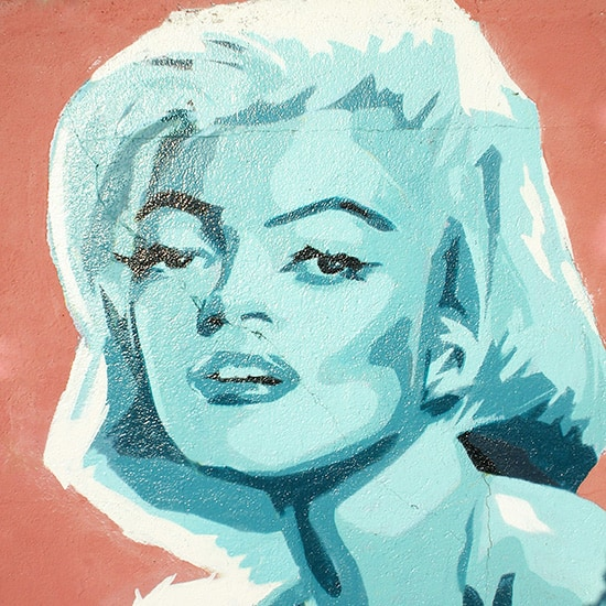 Marilyn Monroe Street art par Kevin Le Gall