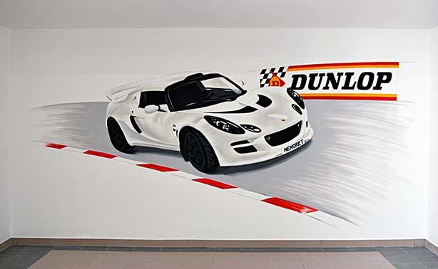 décoration street-art dans un garage