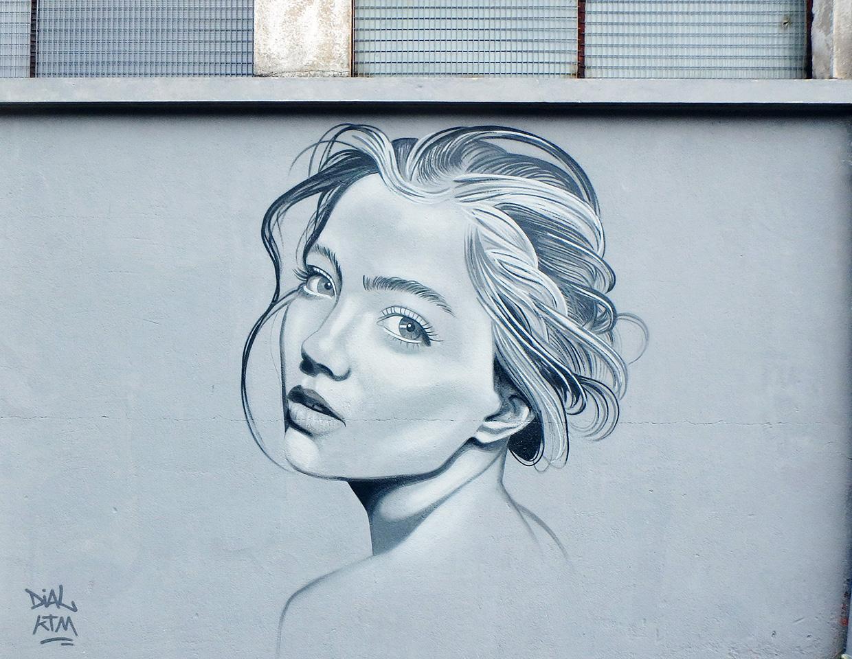 Graffiti street art portrait par Kevin Le Gall