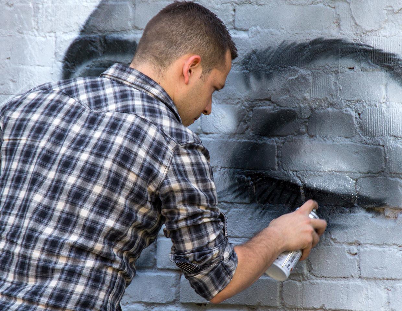 graffiti portrait street-art