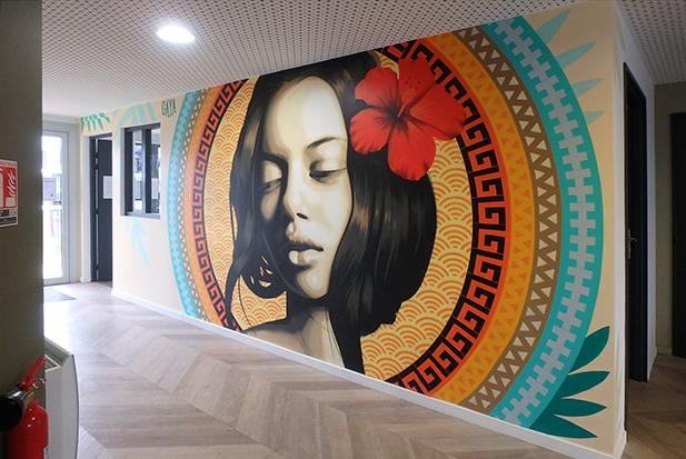 Street-art résidence Gaya
